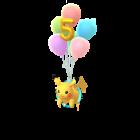 Pikachu - Flying 5th Anniv - Pokémon GO